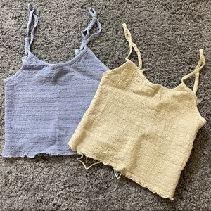 Brandy Melville Smocked Crop Tops (2)